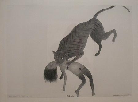 Image result for kiki smith woman with dog